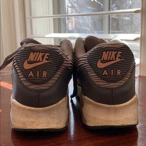 Nike Air Max rose gold and tan sneakers